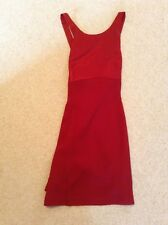 Laura Ashley Cocktail Evening Dress Red Satin (size 12)