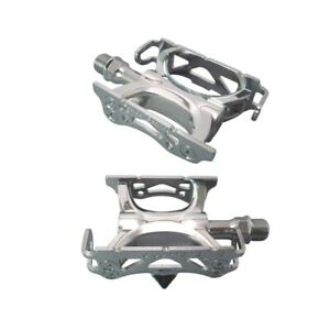 """MKS Mikashima SUPREME Silver Cycling Pedals 9/16"""" NJS Certified Product"""
