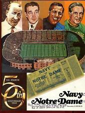 College Football Program Notre Dame 1979 Navy