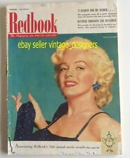Redbook Magazine 1953 Marilyn Monroe Cover MM dressed in Korea Sequin Dress