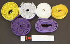 7 Judo Belts White Yellow Purple White/Yellow White/Purple for Kids