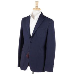 NWT $995 BALLANTYNE Navy Blue Knit Jersey Cotton Blazer Slim 40 R Sport Coat