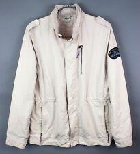 PEPE JEANS Men Jacket Drift Chalk Hooded Casual Coat Size 2XL FZ101
