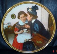 Knowles American Fine China GOSSIPING IN THE ALCOVE By Norman Rockwell