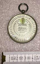 alte Historische Taschenuhr (Fake) für Fotographen  Belichtungsmesser? 1895