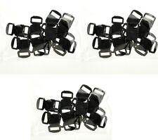 """(3)12 Black Paracord Bracelet Buckle 1/2"""" Curved Side Release Survival 36 Pieces"""
