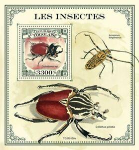 Togo - 2021 Dichotomus Beetles - Stamp Souvenir Sheet - TG210109b