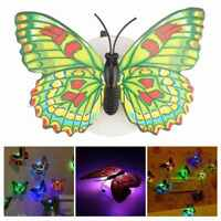 Beautiful Butterfly LED Night Light Lamp Wall Stickers Christmas Wedding Home