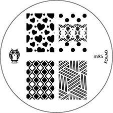 Original Konad Stamping Schablone M95 für Nailart und Nageldesign