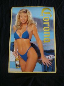 CORONA EXTRA beer promo poster Blue Bikini original store display
