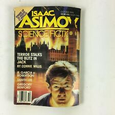 October 1991 Isaac Asimov's Science Fiction Magazine Connie Willis Tanith Lee