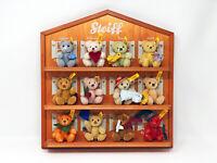 Steiff 12 Monats Bären Kalender Holzdisplay KF, Mohair, 8 cm, 5-fach gegliedert