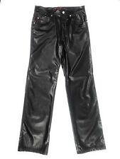 Hot Topic Punk Goth TRIPP NYC Black Faux Leather Jeans Pants Size 28 Inseam 31""