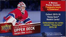 2015-16 Upper Deck Series 1 sealed Hockey blaster box 12 packs of 5 NHL cards