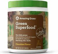 30 Servings Amazing Grass Green Superfood - Chocolate Flavor - 8.5 oz exp 06/22