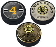 Bobby Orr Boston Bruins 3D Textured Medallion Hockey Puck Collection (3 Pieces)