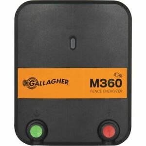Gallagher  M360  Electric  55 mi. Fence Energizer  110 volts 3.6 J BRAND NEW!