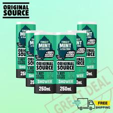 ORIGINAL SOURCE Mint & Tea Tree Shower Gel Vegan. Bulk Pack, Pack of 6 FREE POST