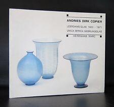 Leerdam Glas # ANDRIES DIRK COPIER  # 1986, nm