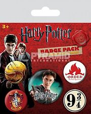 Harry Potter Gryffindor pack of 5 round pin badges (py 80486)