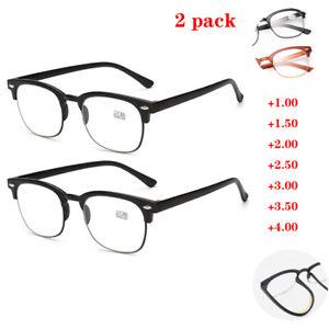 TR90 Reading Glasses Men Ladies Plastic Half Frame Quality +1.00 +1.50 to +4.00