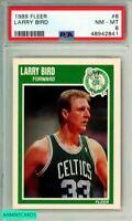 1989 FLEER LARRY BIRD #8 BOSTON CELTICS PSA NM-MT 8 6518