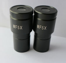 Pair Wf5X/20mm Biological Microscope Eyepiece lens Wide Angle 23.2mm Mounting