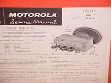 1960 CHEVROLET IMPALA CONVERTIBLE EL CAMINO MOTOROLA AM RADIO SERVICE MANUAL P