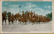 1919 Military Life Camp Dix Hurdling the Stick Sport New Jersey Nj Postcard B14