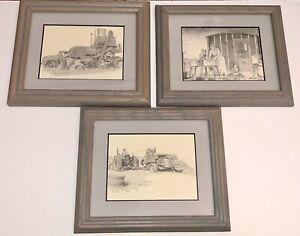 LOT of 3 Don Greytak Mini-Images Framed/Matted
