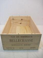 OLD WOOD-WOODEN VIN DE BORDEAUS BELLECHASSE BORDEAUX ROUGE WINE CRATE BOX