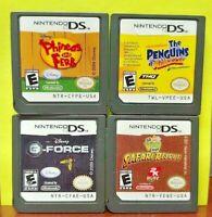 Penguins Go Diego Go Phineas Ferb G-Force - Nintendo DS Lite 2ds 3ds Disney Lot