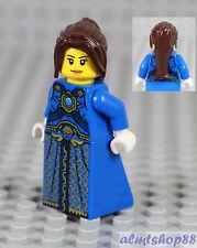 LEGO - Female Minifigure w/ Blue Dress & Dark Brown Hair Princess Castle Pirates