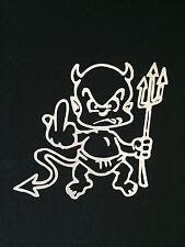 Devil Boy in white Auto Car Van Truck Vinyl Graphics Removable Decal Sticker