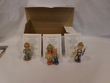 Hummel Goebel Christmas Ornament Little Brother Letter To Santa + Strin Set of 3