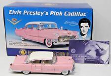 Franklin Mint 1:24 Diecast 1955 Elvis Presley Cadillac Pink Fleetwood Mint COA
