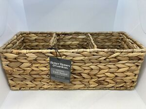 NWT Better Homes & Gardens Water Hyacinth Tank Basket Natural