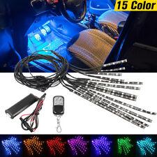 12Pcs Motorcycle 5050LED RGB Glow Neon Light Strips Wireless Remote  + L W