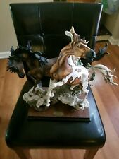 Rare Guiseppe Armani Statue Limited Edition Stallions # 457 of 1500 world wide