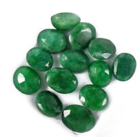 AAA Quality Zambian Green Emerald 100 Ct Oval Cut Natural Loose Gemstone Lot
