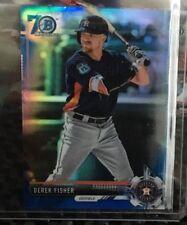 2017 Bowman Chrome Mini Derek Fisher Blue 70th Refractor #21/70 Astros