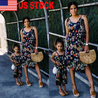 Mother and Daughter Couple Clothes Parent-child dress Family Matching  Outfits