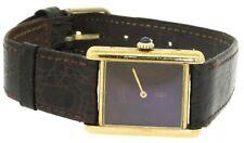 Cartier Paris Tank Vermeil Gold plated Sterling silver midsize mechanical watch