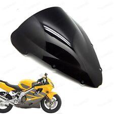 Black Double Bubble Windscreen Windshield for Honda CBR 600 F4i 2001-2007