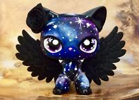 Littlest Pet Shop LPS CUSTOM, Cute, Short Hair, Black GALAXY  KITTY Cat, Nice!