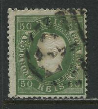 Portugal 1870  50 reis green used
