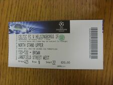 29/08/2012 Ticket: Celtic v Helsingborgs [Champions League] . Thanks for viewing