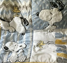 Lambs & Ivy Snoopy Nursery Quilt Peanuts, Snoopy, Woodstock