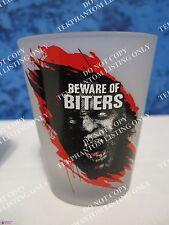 Walking Dead Beware of Biters Walkers Logo Frosted Shot Glass Mini Barware AMC