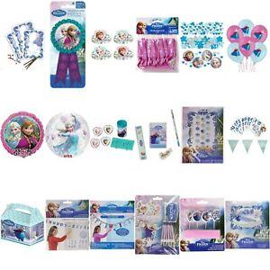 Disney Frozen Anna Elsa Olaf Kids Birthday Party Decorations Tablewares Balloons